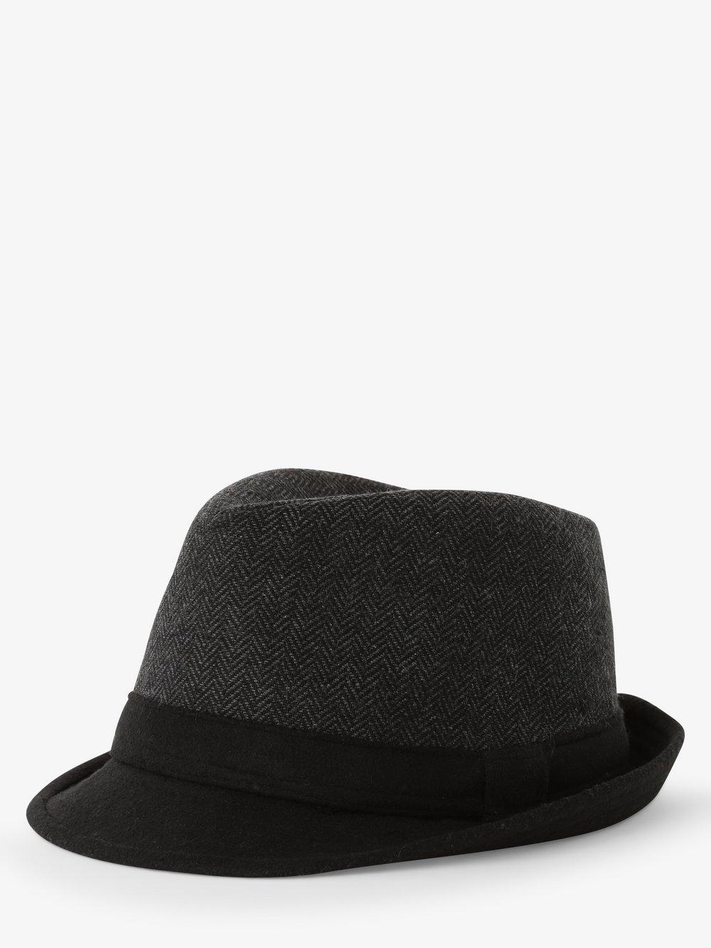 Finshley & Harding London – Kapelusz męski, czarny Van Graaf 487285-0001-09920