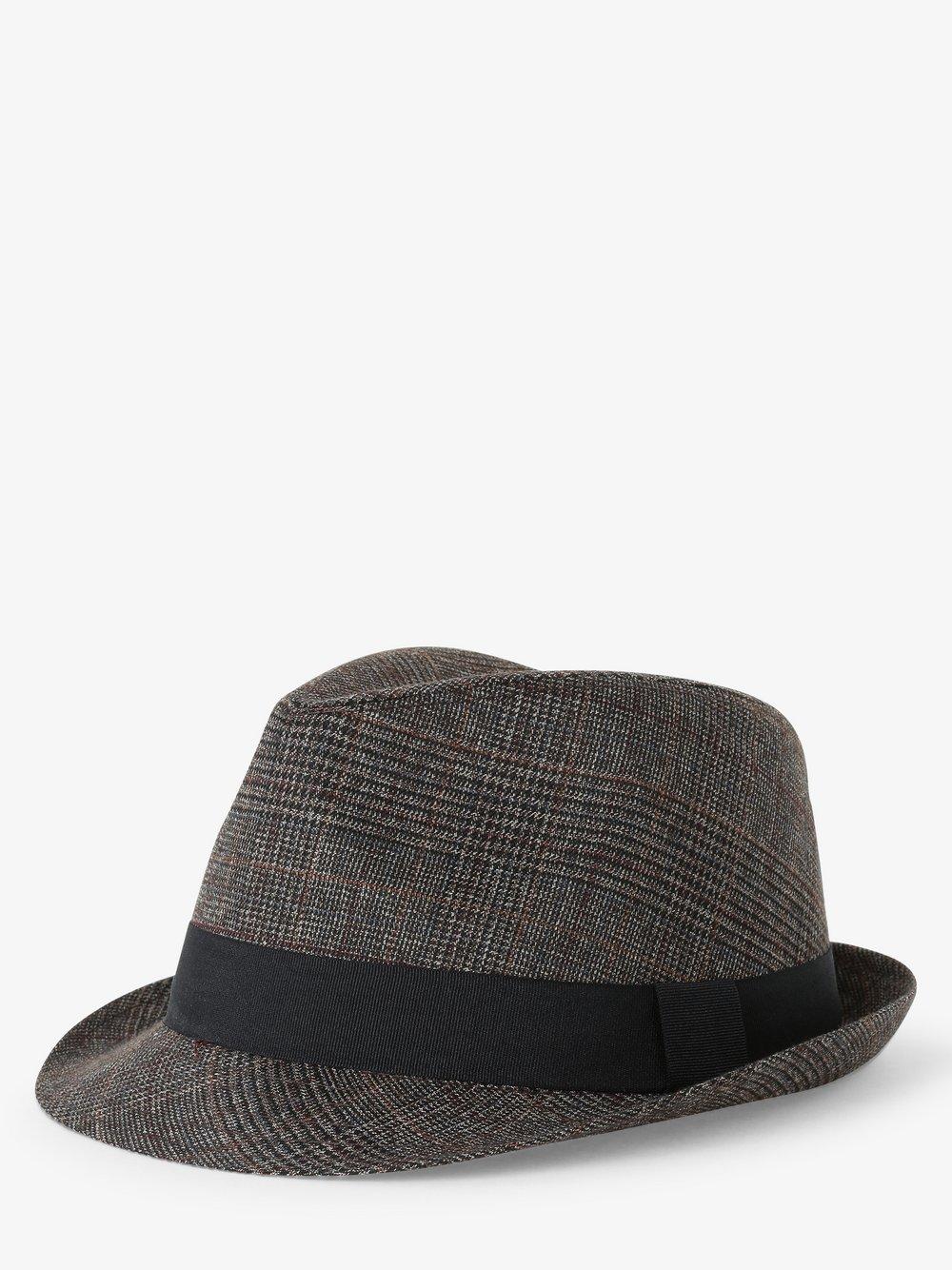 Finshley & Harding London – Kapelusz męski, szary Van Graaf 487286-0001
