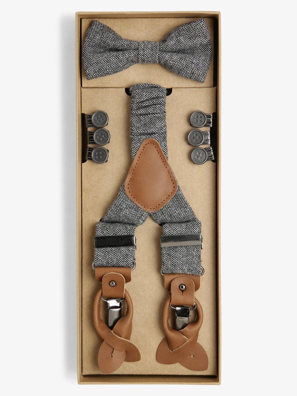 Finshley & Harding London – Zestaw akcesoriów dla mężczyzn, szary Van Graaf 487385-0001-00000