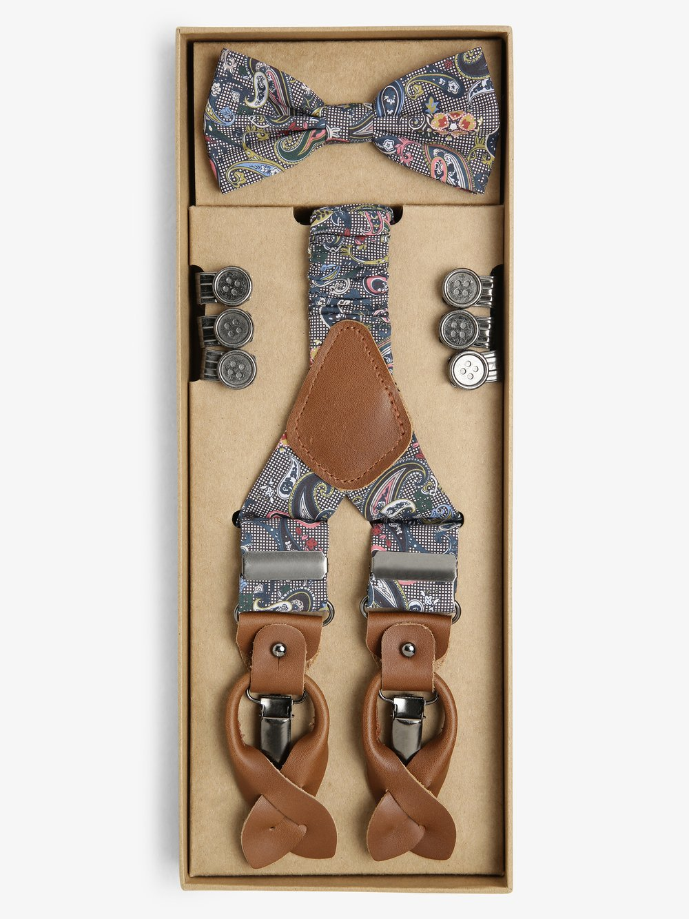 Finshley & Harding London – Zestaw akcesoriów dla mężczyzn, wielokolorowy Van Graaf 487387-0001