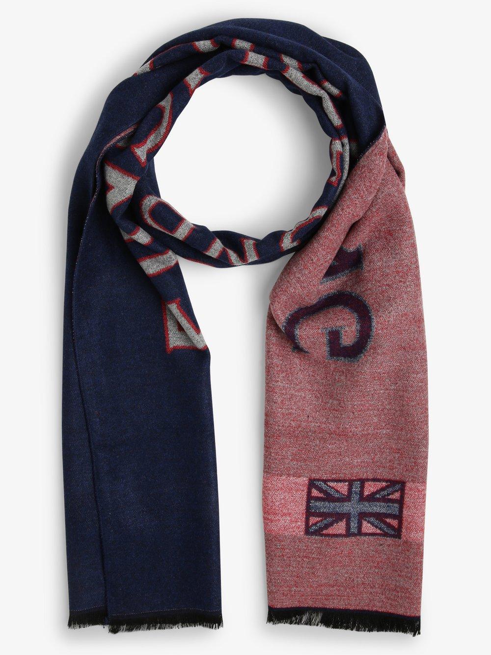 Finshley & Harding London – Szalik męski, niebieski Van Graaf 487389-0001