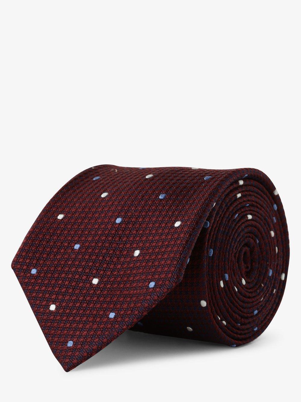 Andrew James New York – Krawat jedwabny męski, czerwony Van Graaf 487406-0001