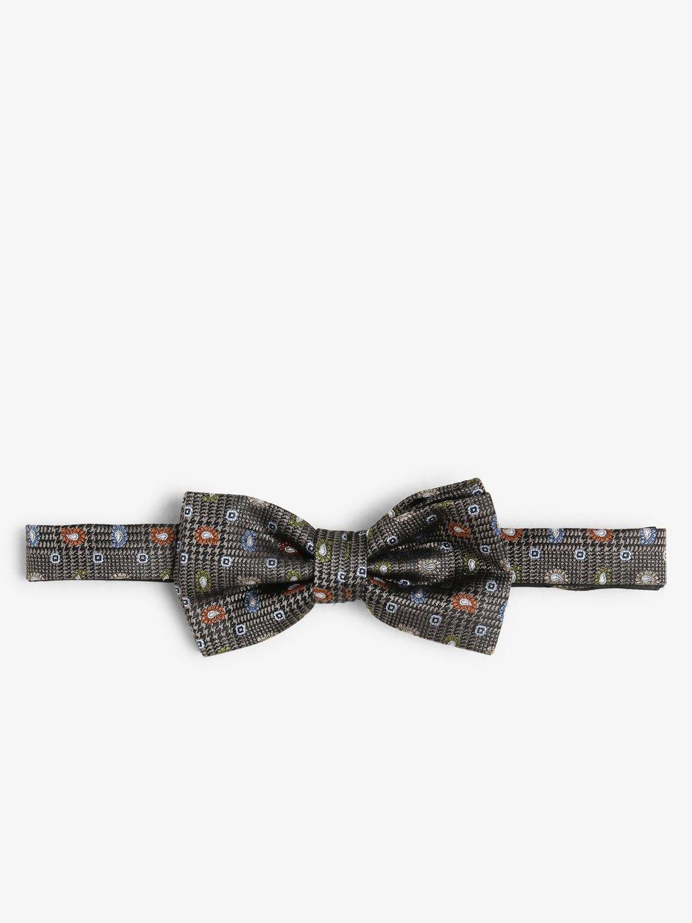 Andrew James New York – Muszka i poszetka męska z jedwabiu, szary Van Graaf 487425-0001