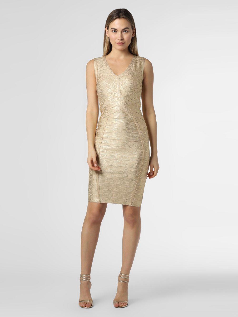 Lipsy - Sukienka damska, złoty
