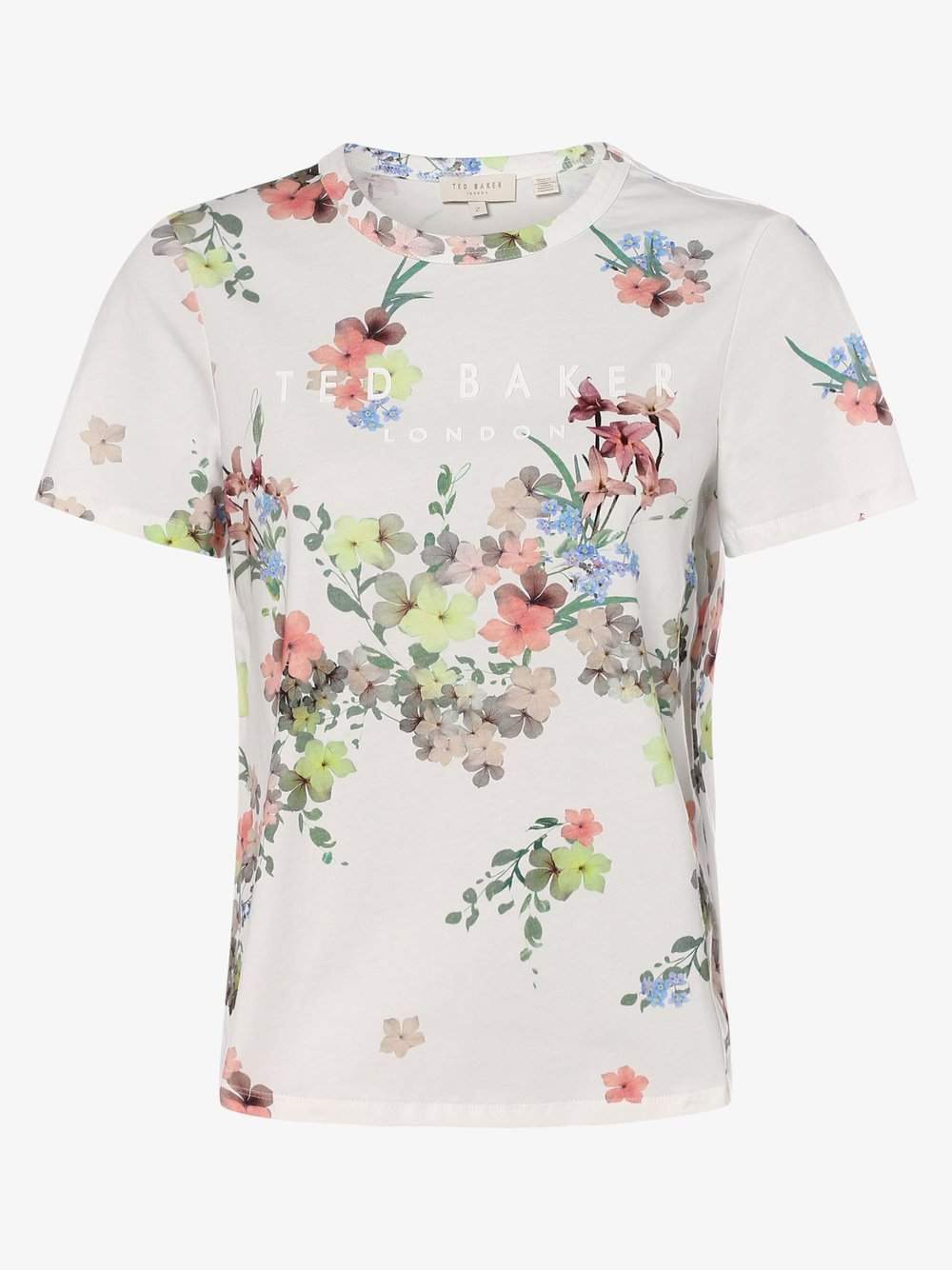 Ted Baker – T-shirt damski – Lileeyy, beżowy Van Graaf 487517-0001-00360