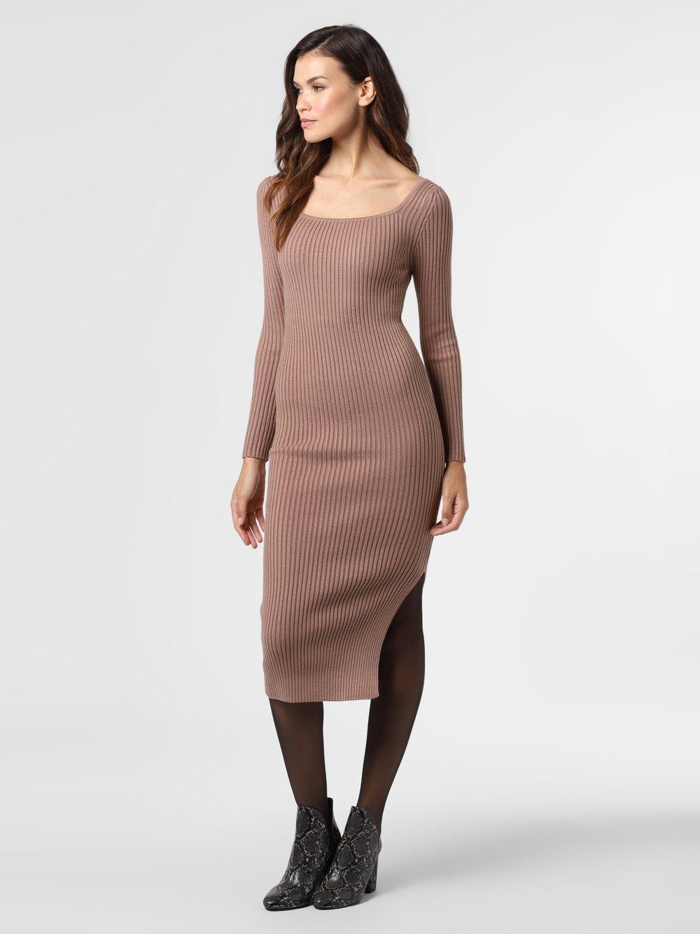 NA-KD – Sukienka damska, brązowy Van Graaf 487751-0001-09960