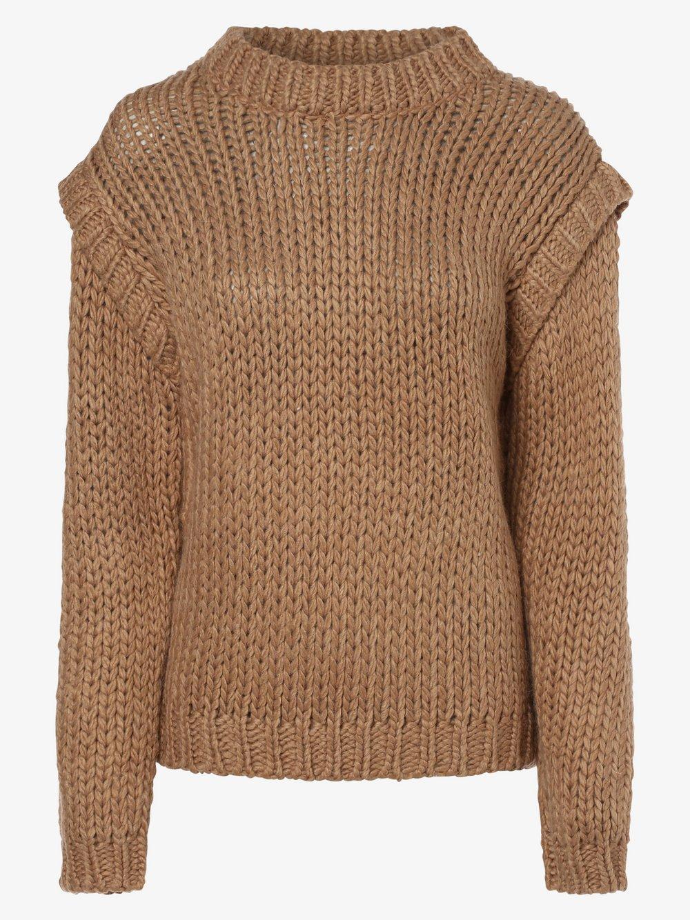 NA-KD – Sweter damski z dodatkiem alpaki, brązowy Van Graaf 487755-0001