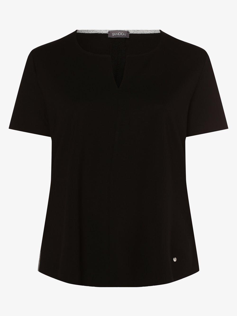 Samoon - T-shirt damski – duże rozmiary, czarny