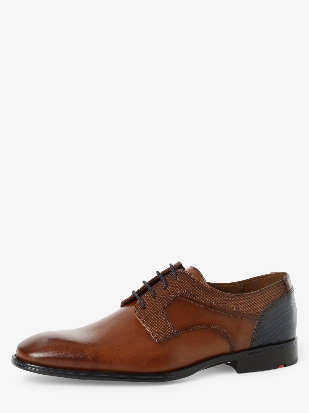 Lloyd – Męskie buty sznurowane ze skóry – Gilbert, beżowy Van Graaf 488005-0001-00090