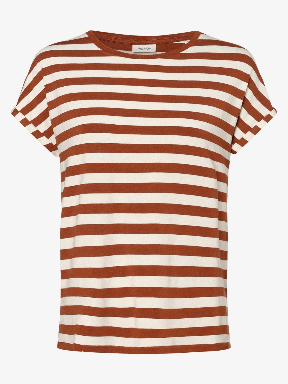 Marc O'Polo Denim – T-shirt damski, brązowy Van Graaf 488444-0002-09900