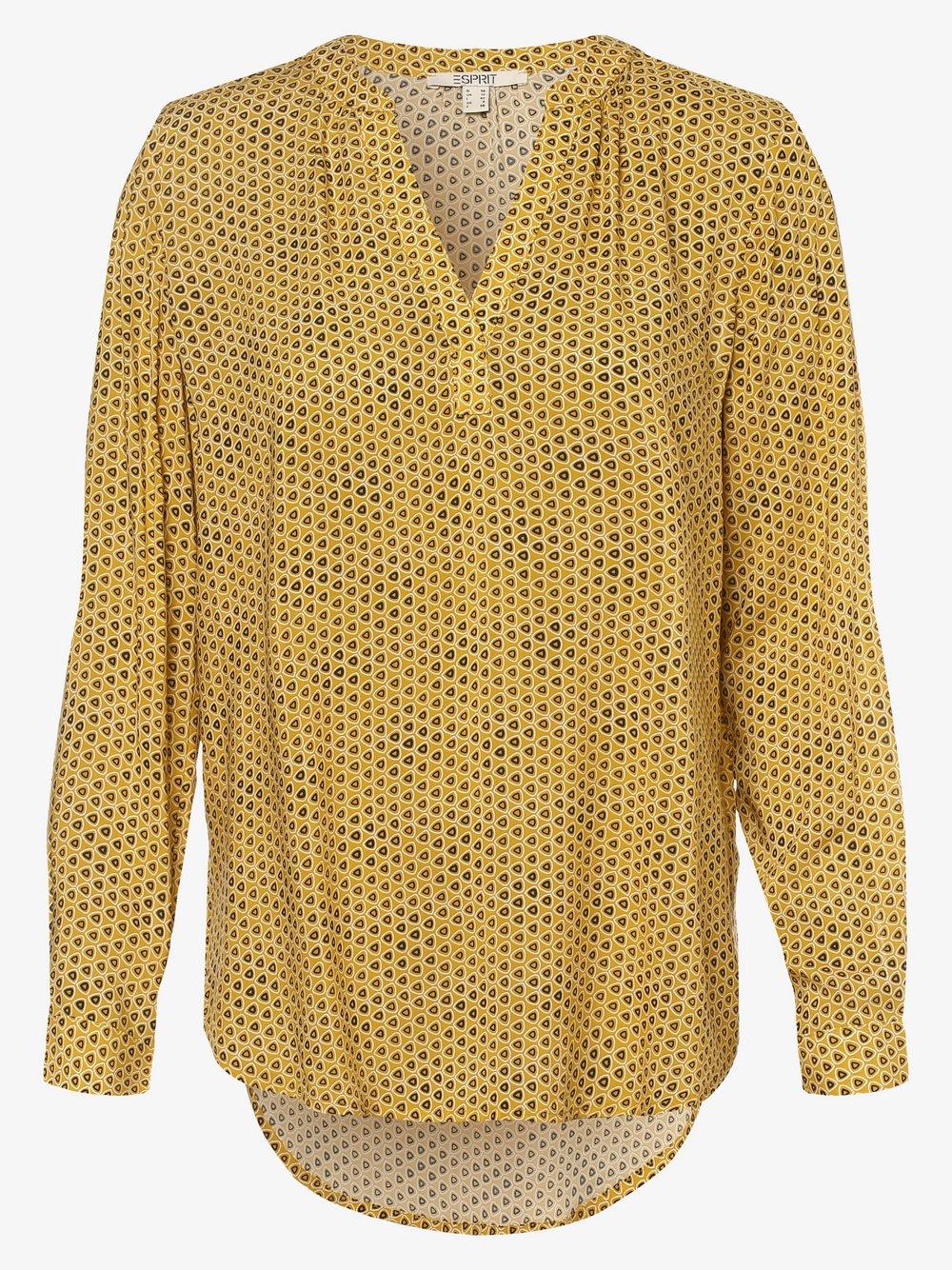 Esprit Casual – Bluzka damska, żółty Van Graaf 488710-0001-00420