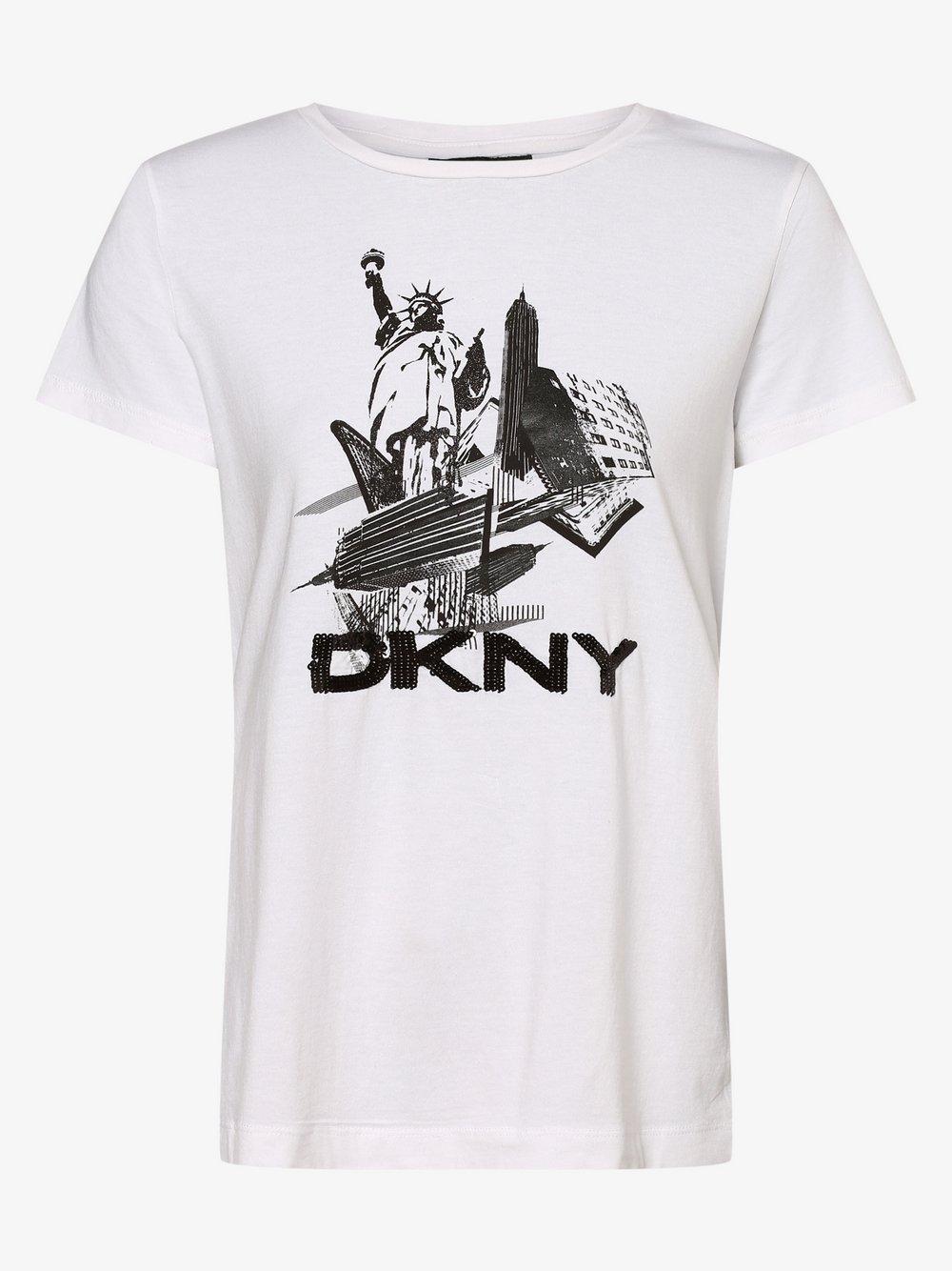 DKNY - T-shirt damski, biały