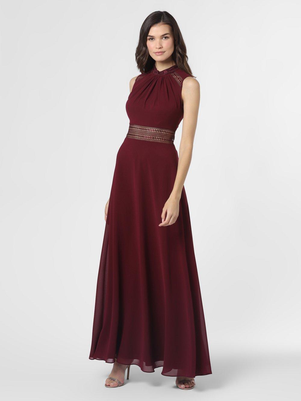 VM – Damska sukienka wieczorowa, czerwony Van Graaf 489707-0001-00320