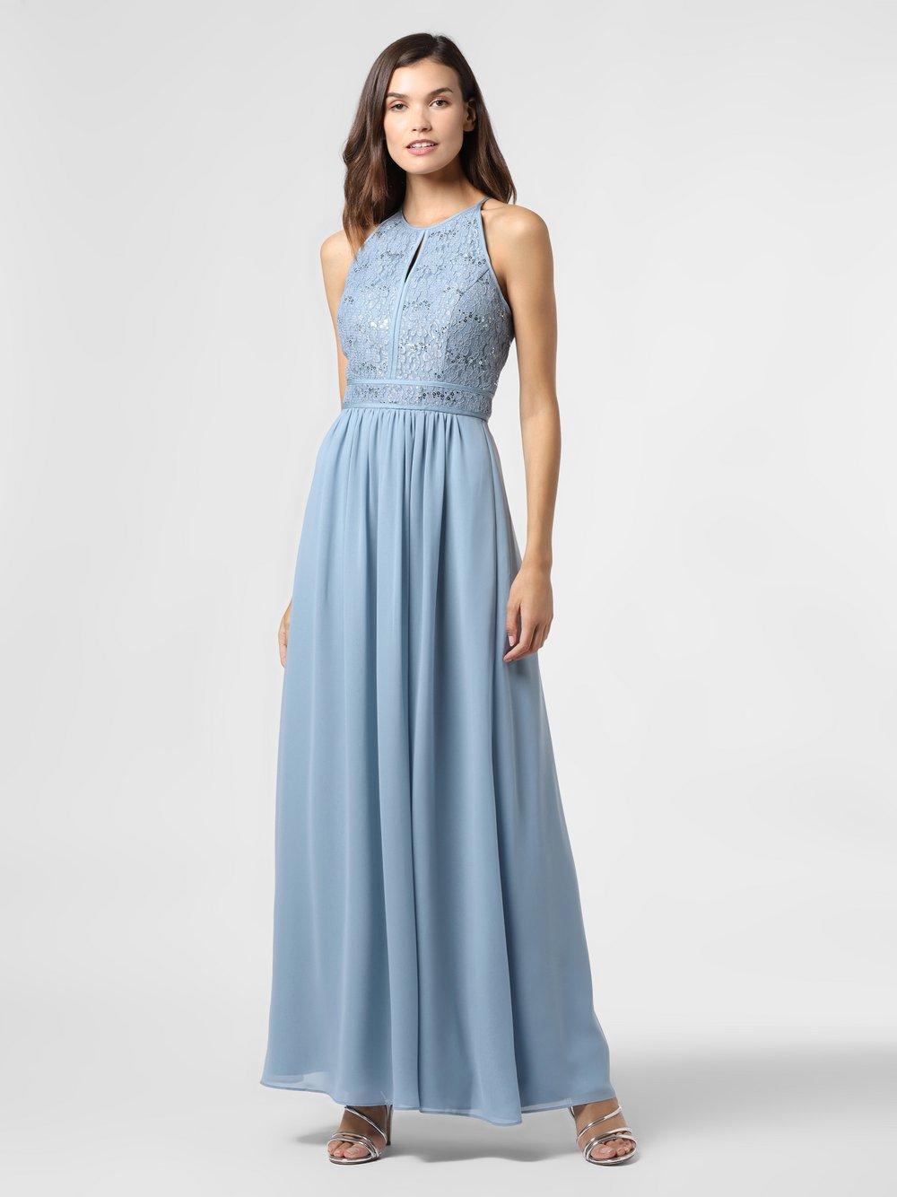 VM – Damska sukienka wieczorowa, niebieski Van Graaf 489711-0002-00340