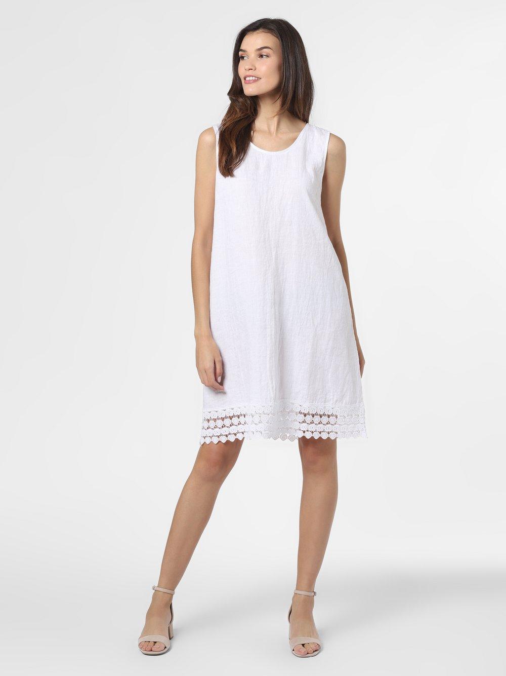 Cartoon Daydream – Damska sukienka lniana, biały Van Graaf 489748-0001-00360
