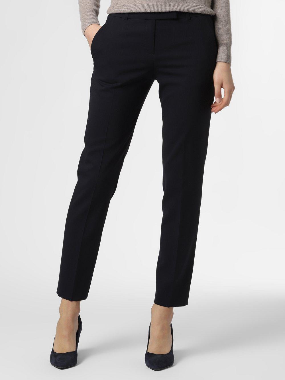 HUGO - Spodnie damskie – The Fitted Trousers, niebieski