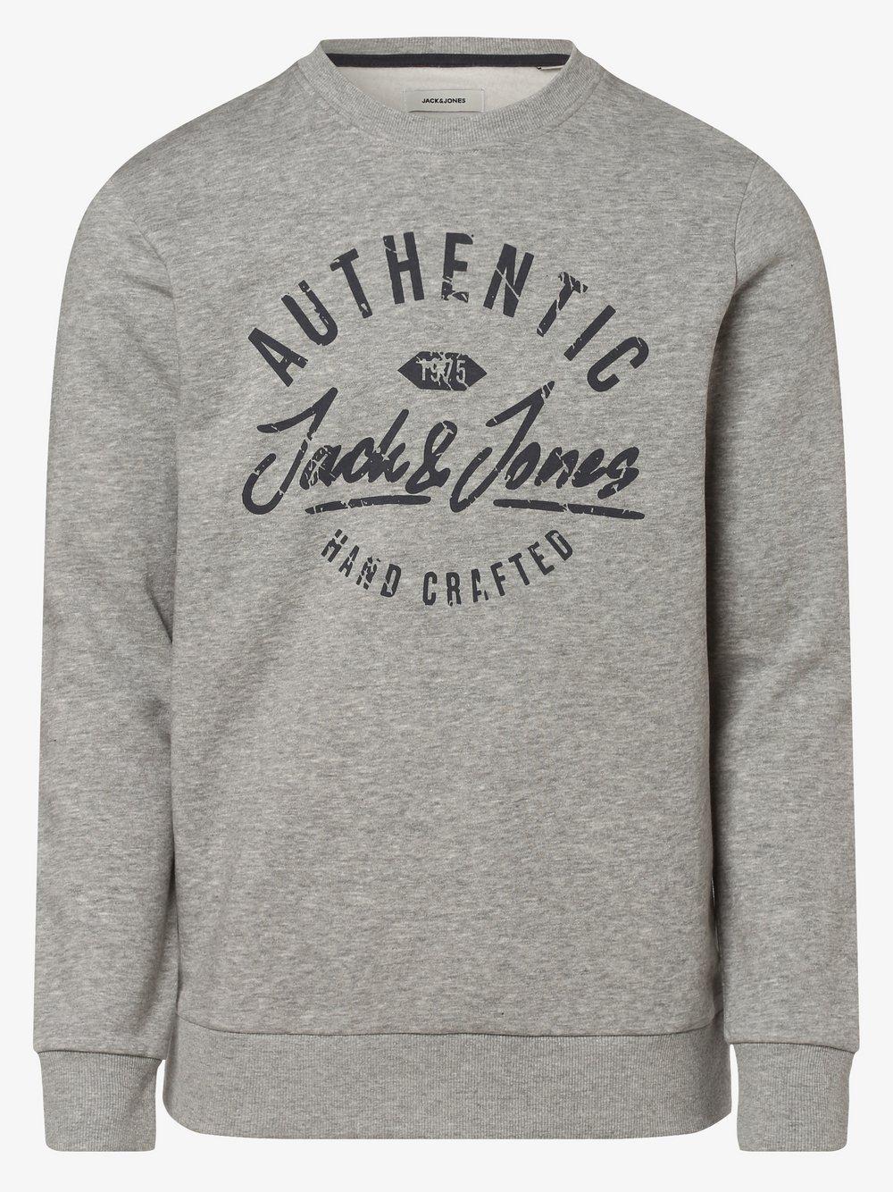 Jack & Jones - Męska bluza nierozpinana – JJHero, szary