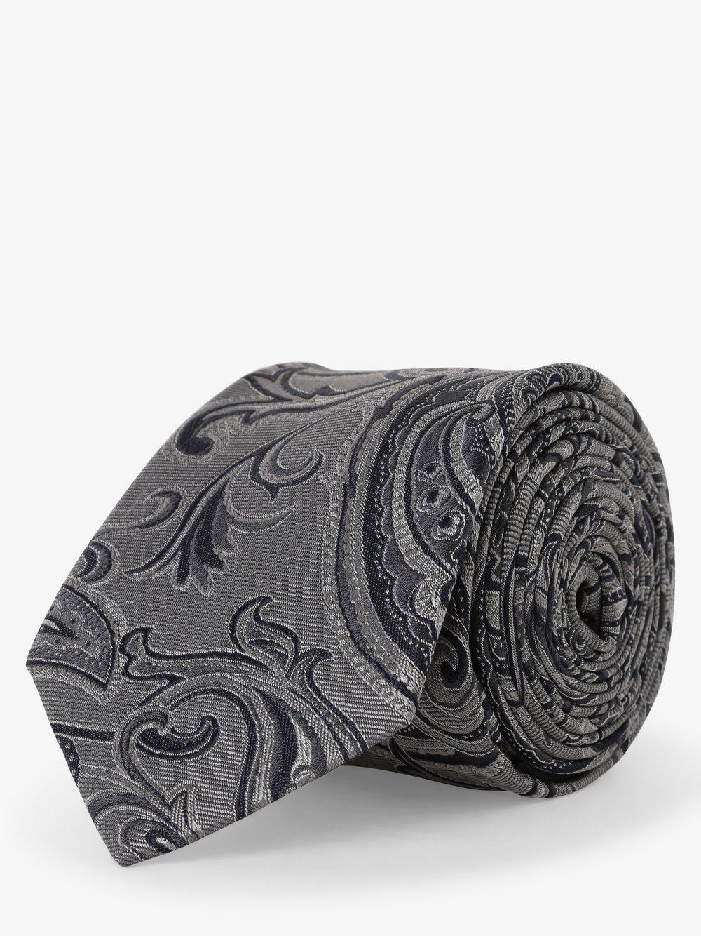 Andrew James – Krawat jedwabny męski, szary Van Graaf 490925-0001-00000