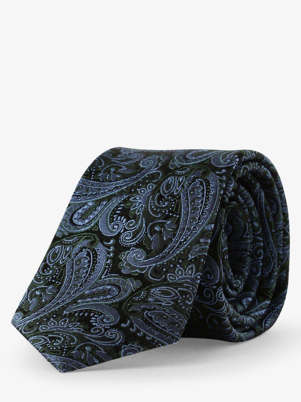 Andrew James – Krawat jedwabny męski, zielony Van Graaf 490933-0004-00000