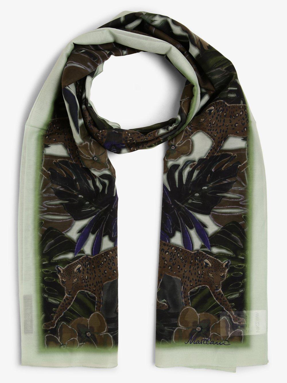 Marc Cain Collections - Szalik damski z domieszką jedwabiu, zielony