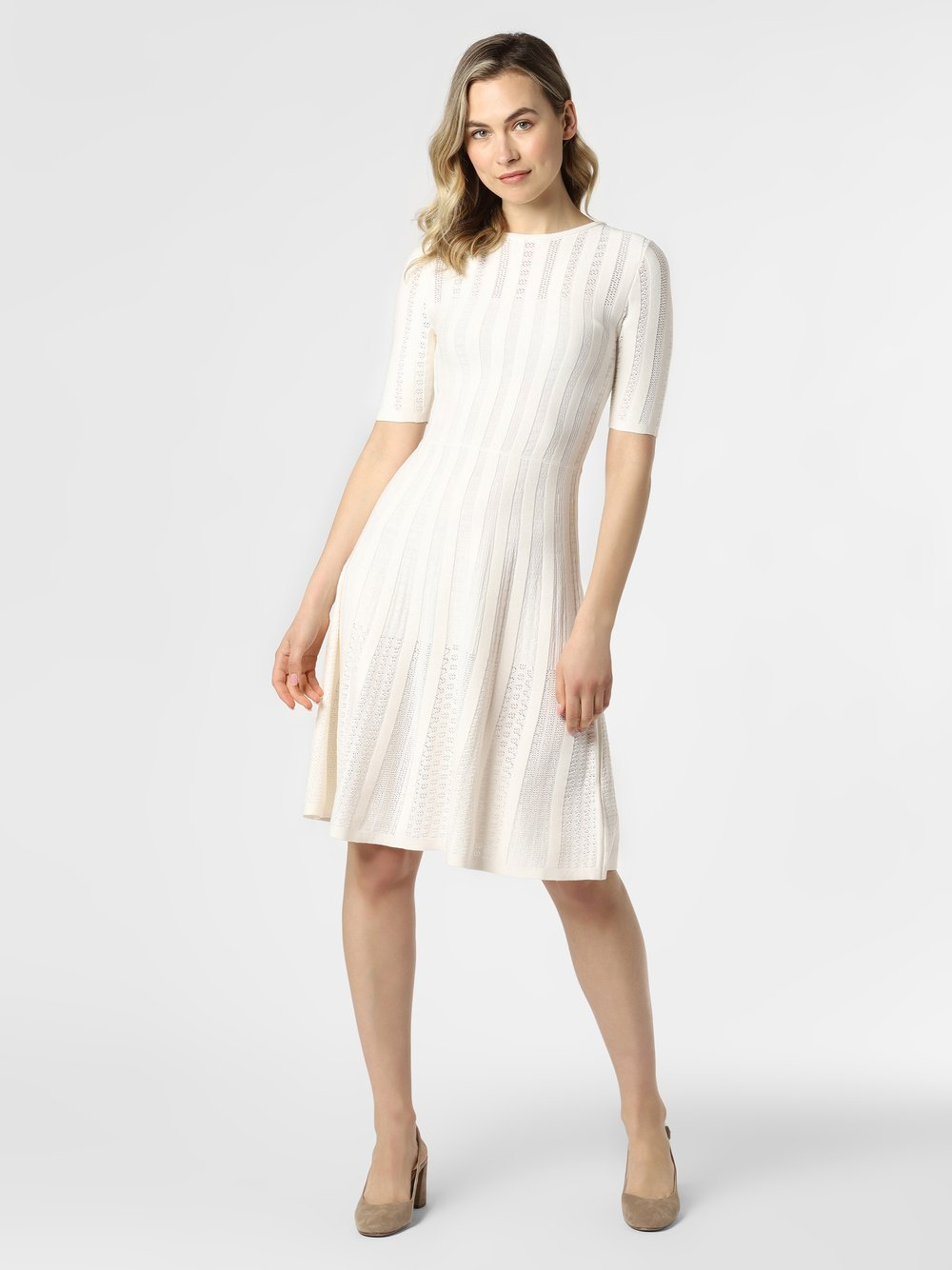 BOSS Casual - Sukienka damska – C_Feli, beżowy