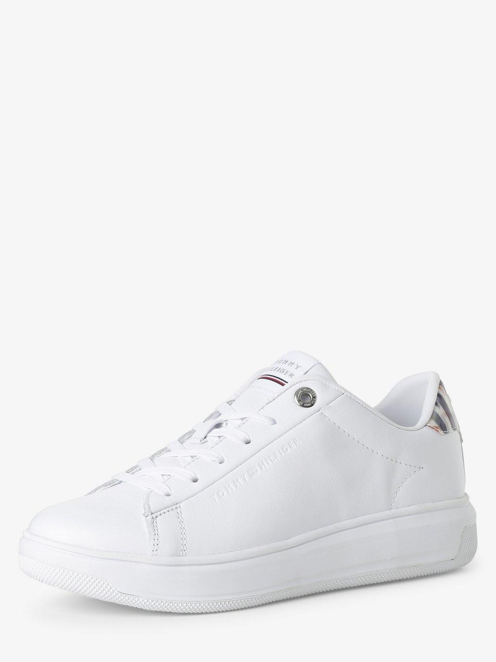 Tommy Hilfiger - Damskie tenisówki ze skóry, biały