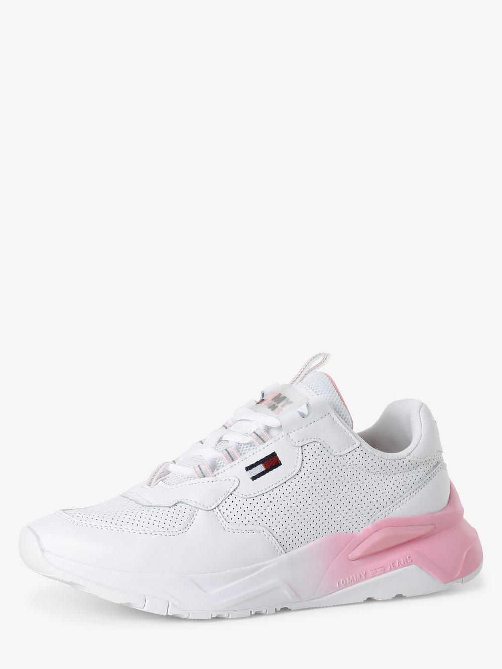Tommy Jeans - Damskie tenisówki ze skóry, biały