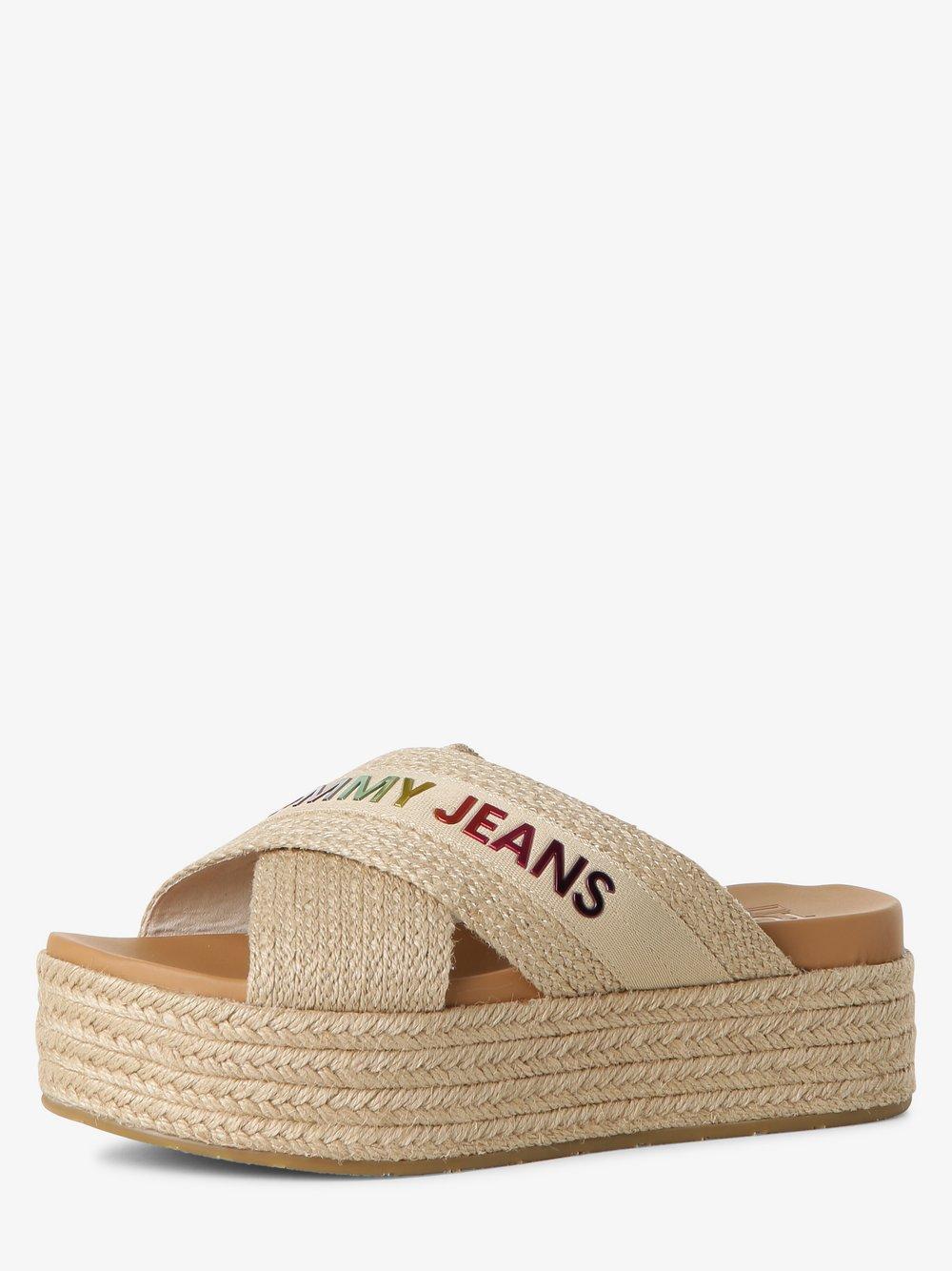 Tommy Jeans - Klapki damskie, beżowy