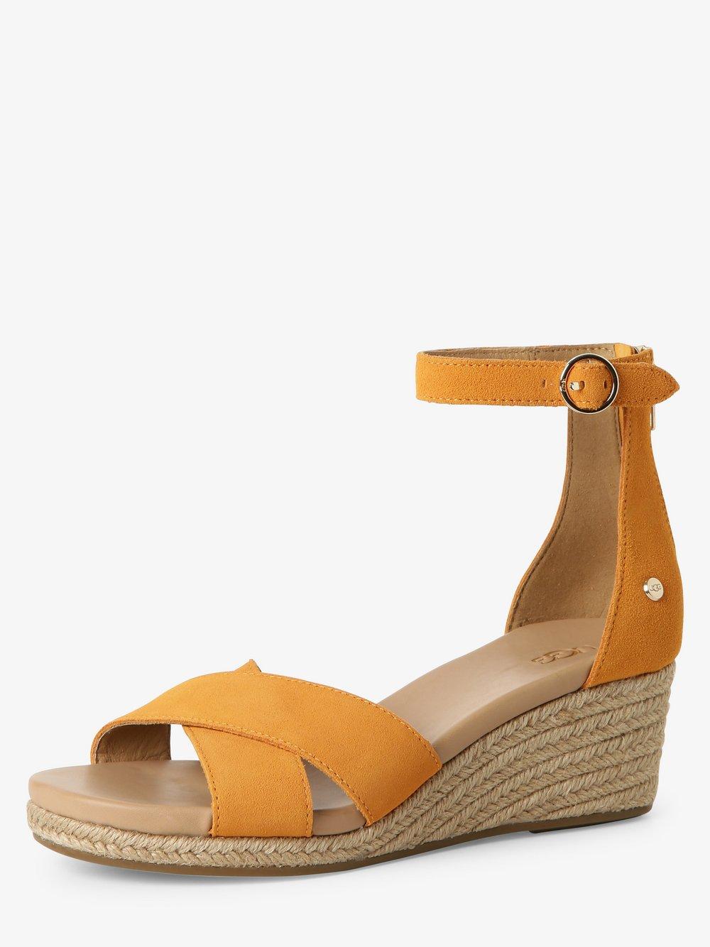UGG - Sandały damskie ze skóry, pomarańczowy
