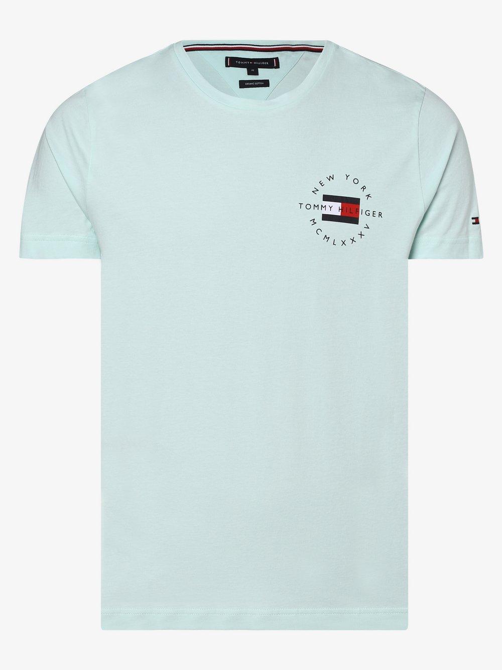 Tommy Hilfiger - T-shirt męski, niebieski