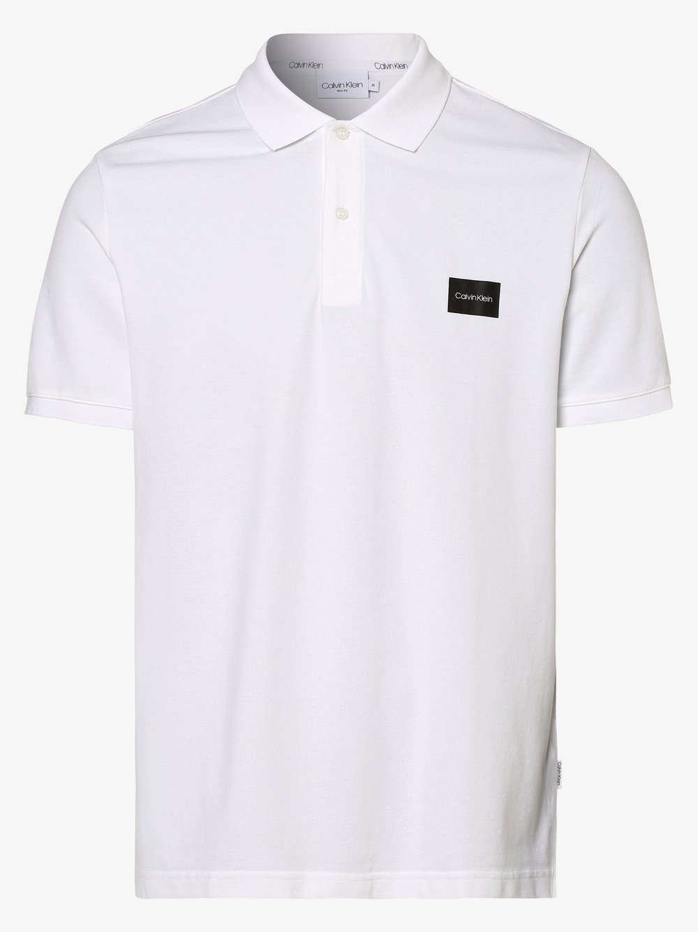 Calvin Klein - Męska koszulka polo, biały