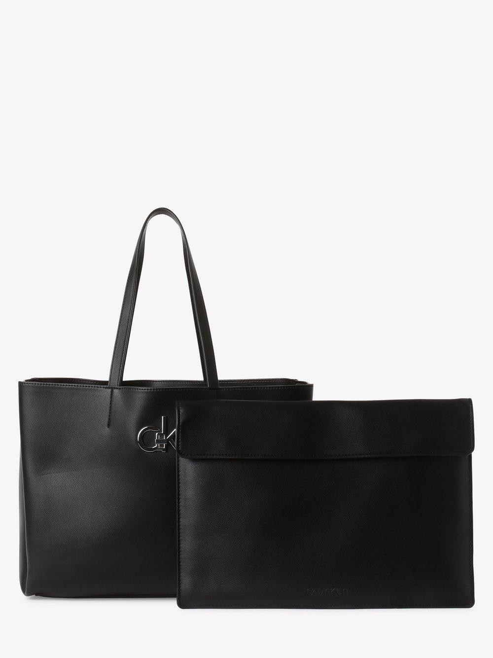 Calvin Klein - Damska torba shopper z torebką wewnętrzną, czarny