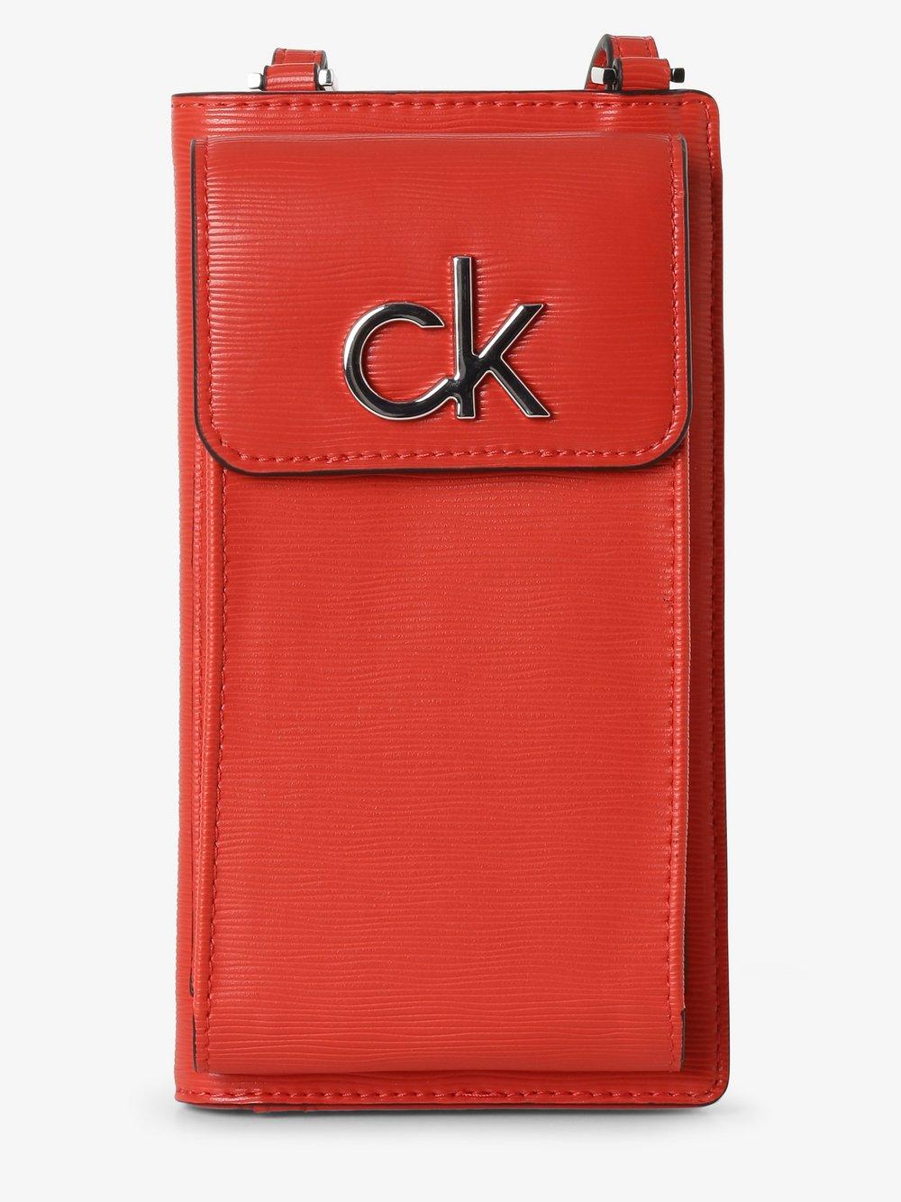 Calvin Klein - Damska saszetka na telefon komórkowy, czerwony