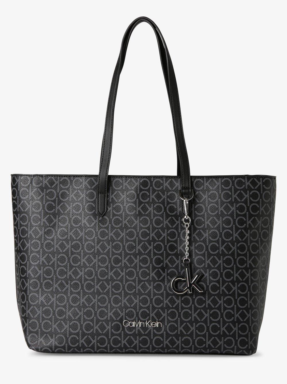 Calvin Klein - Damska torba shopper, czarny