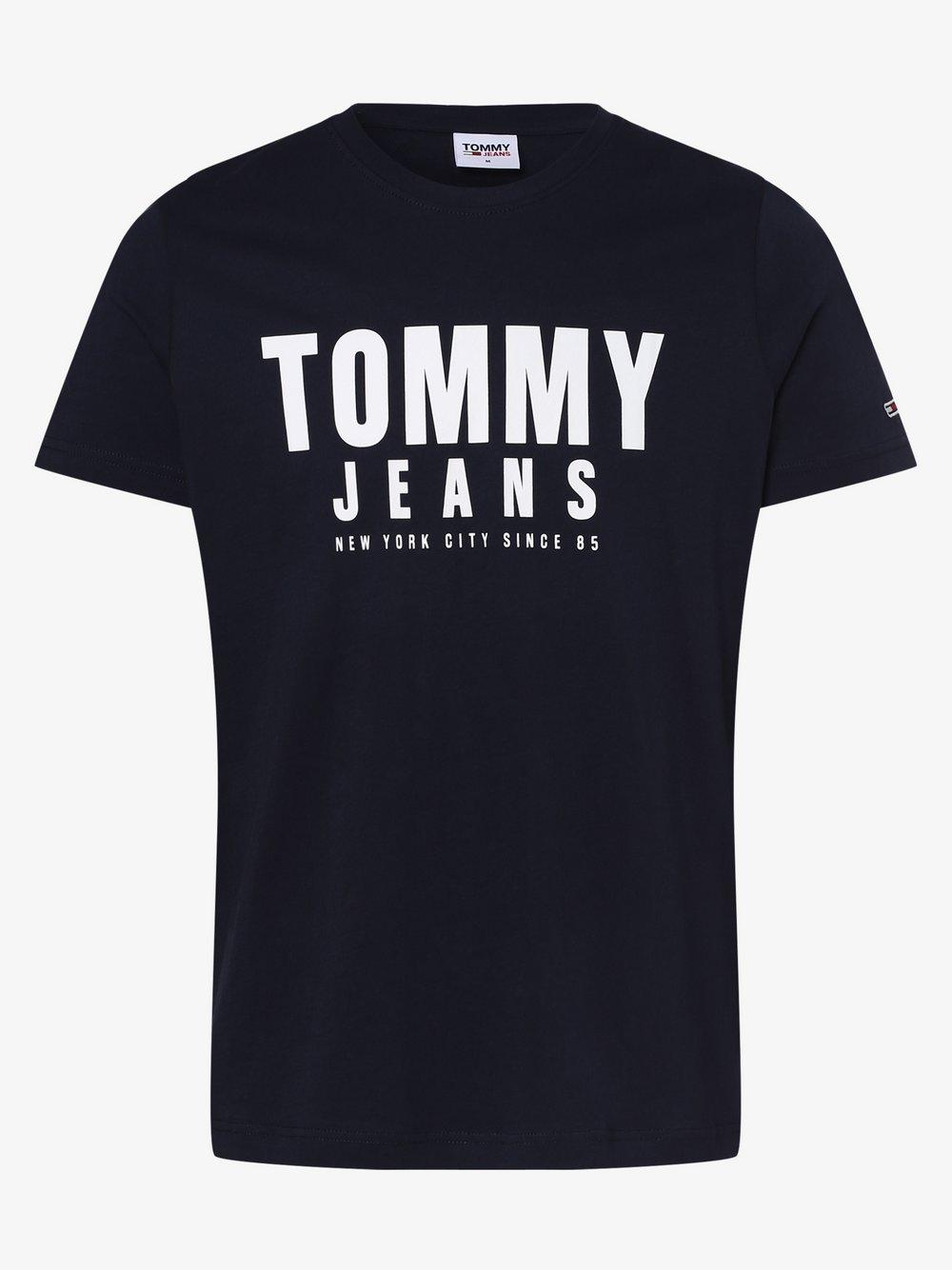 Tommy Jeans - T-shirt męski, niebieski
