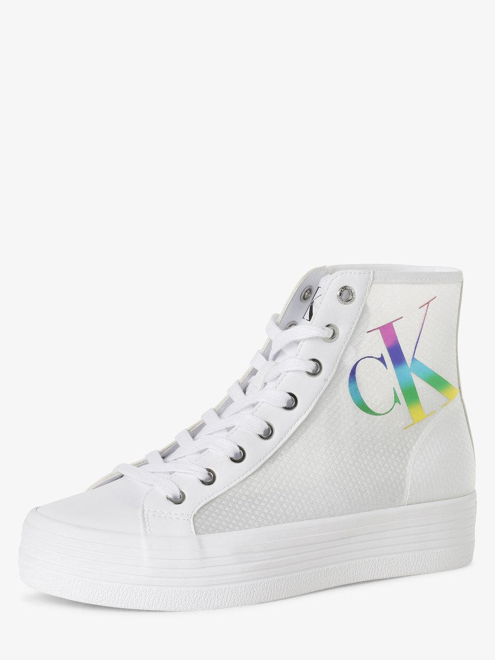 Calvin Klein Jeans - Tenisówki damskie, biały
