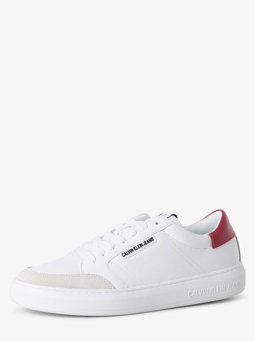 Calvin Klein Jeans - Damskie tenisówki ze skóry, biały