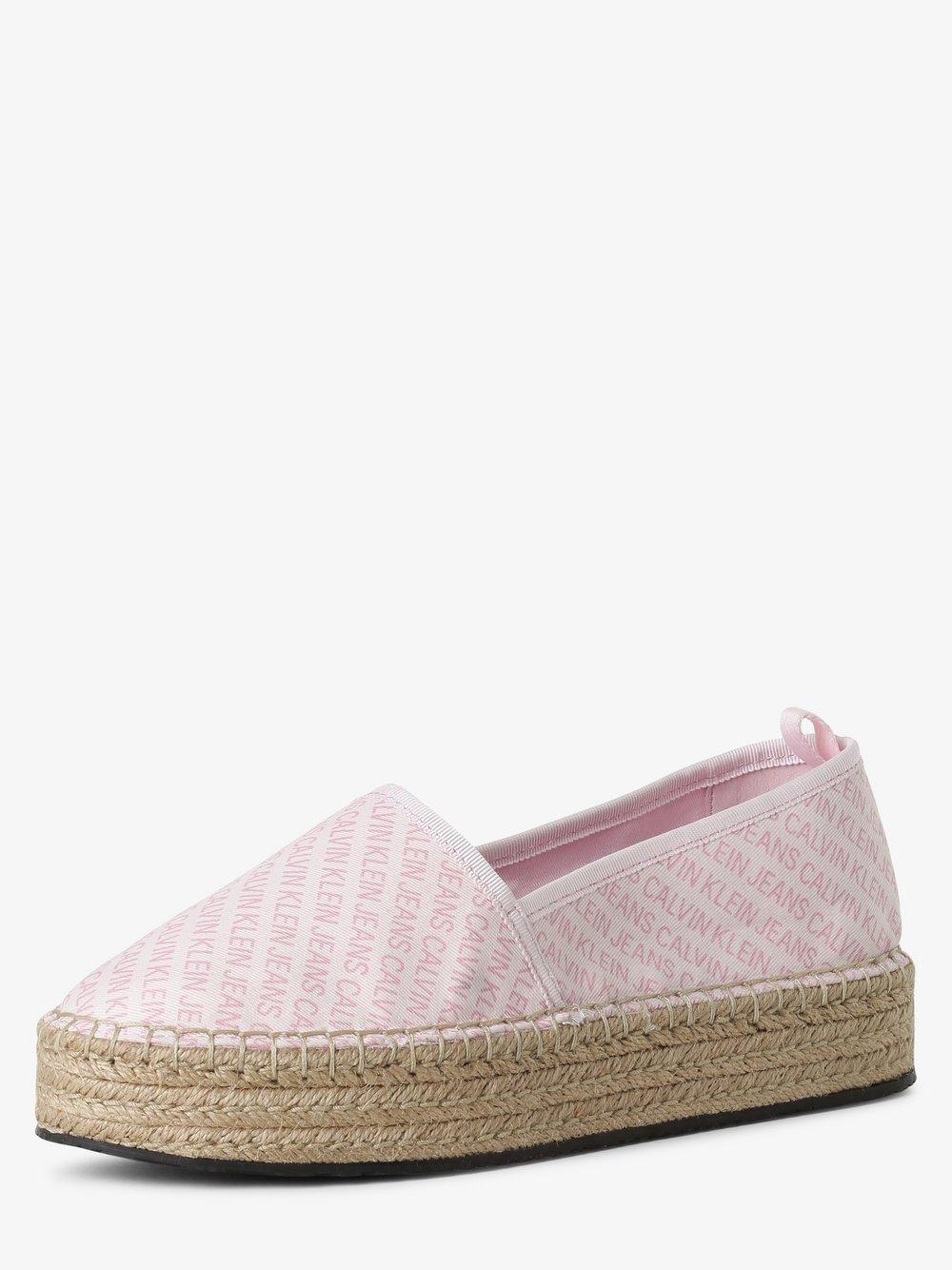 Calvin Klein Jeans - Espadryle damskie, różowy