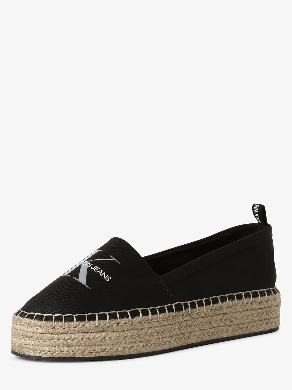 Calvin Klein Jeans - Espadryle damskie, czarny