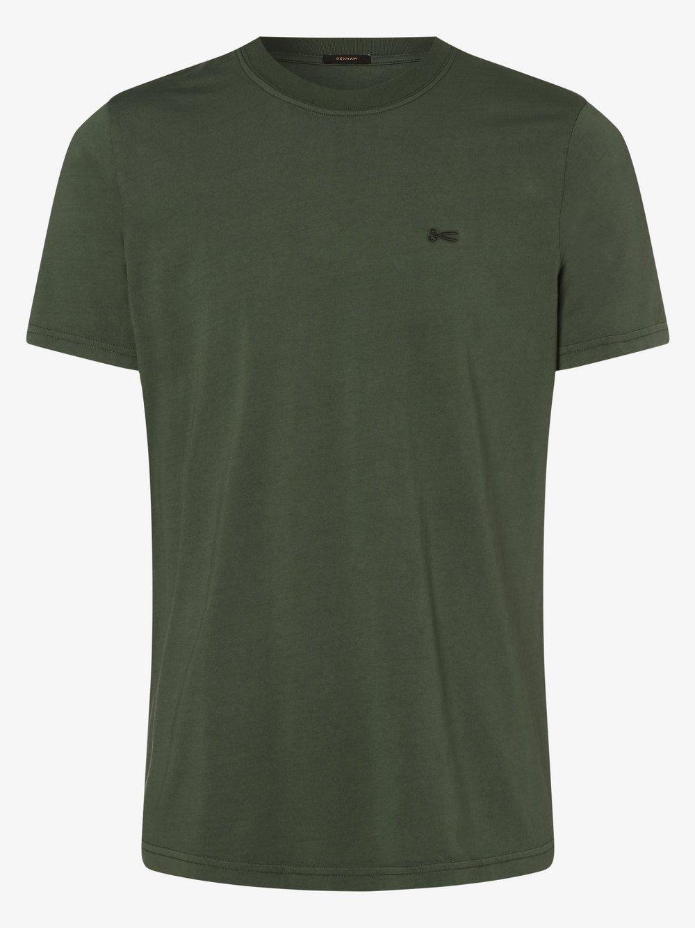 DENHAM – T-shirt męski, zielony Van Graaf 494899-0001-09990