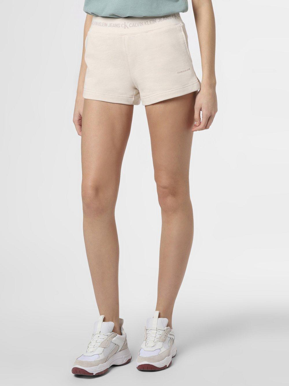 Calvin Klein Jeans - Spodenki damskie, beżowy
