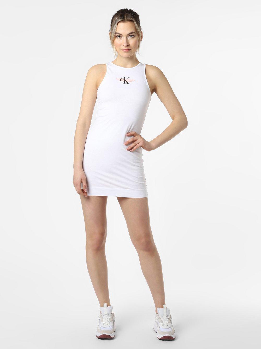Calvin Klein Jeans - Sukienka damska, biały