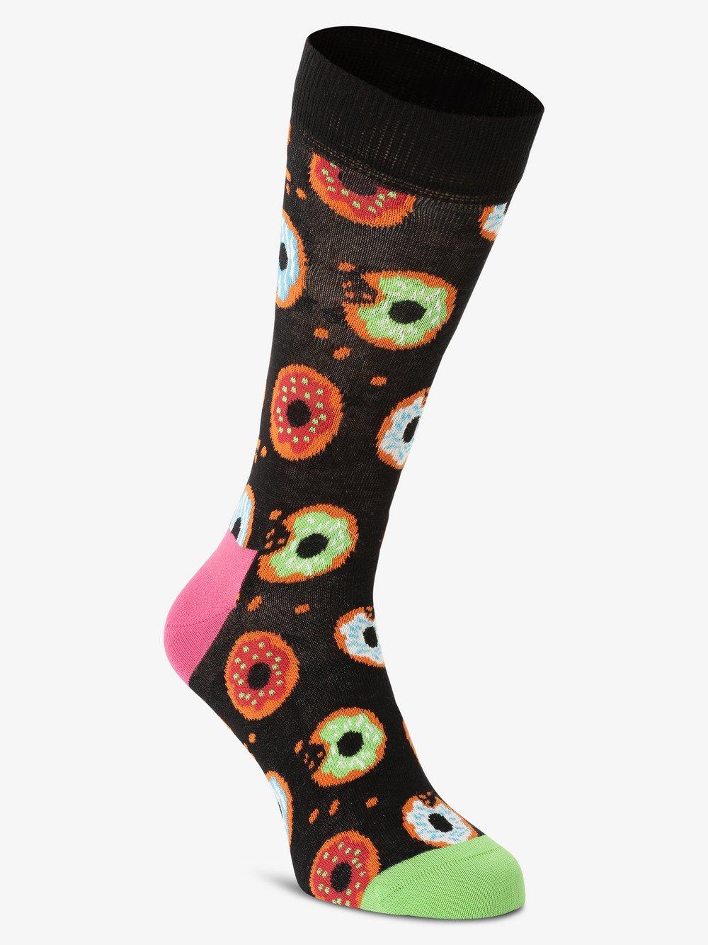 Happy Socks - skarpety z drobnej dzianiny, czarny