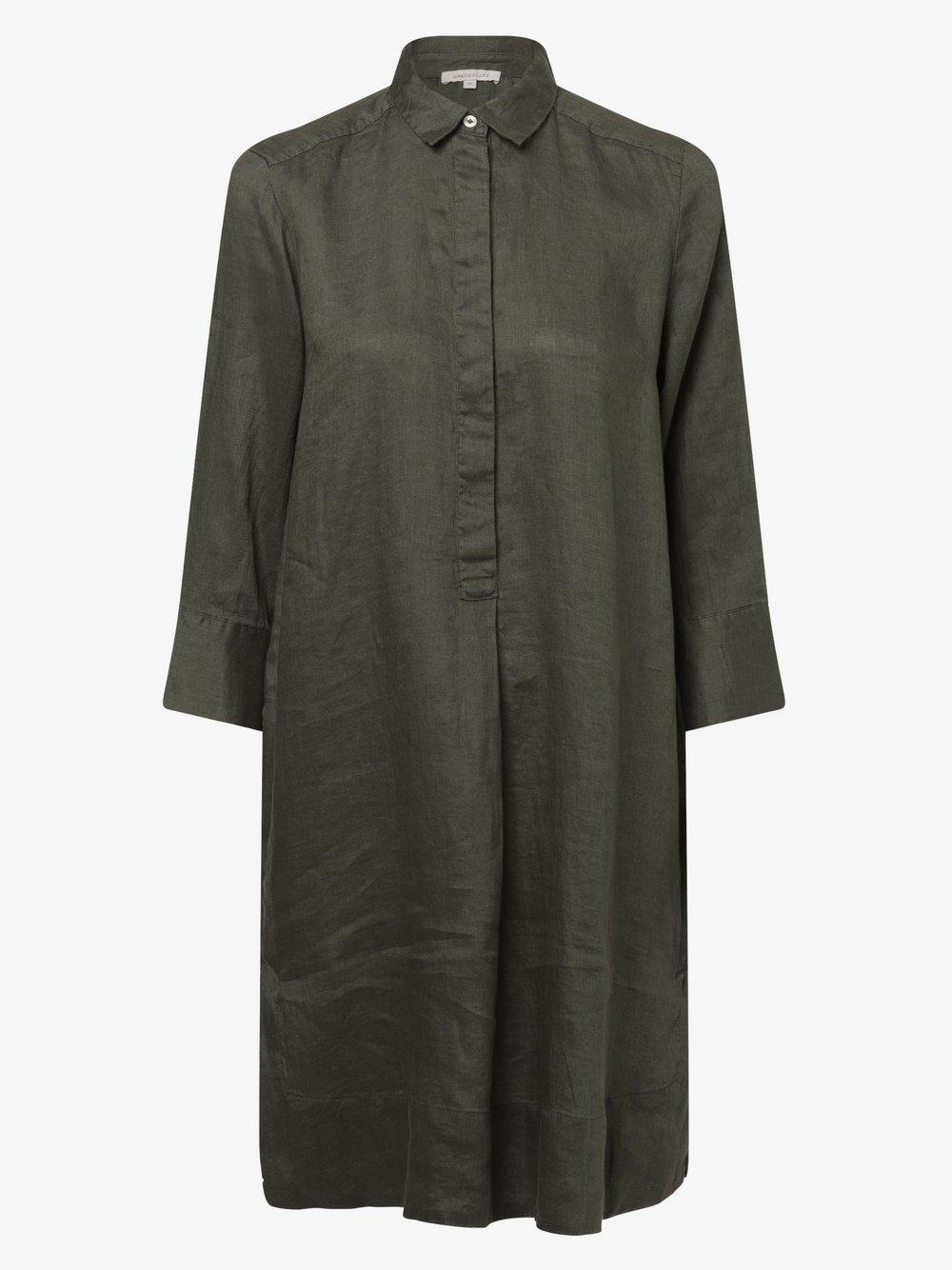 Apriori - Damska sukienka lniana, zielony