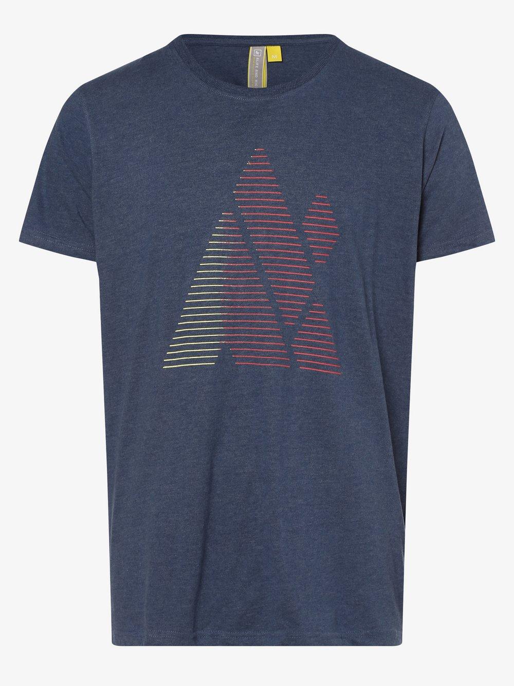 alife and kickin – T-shirt męski – Logo ICON AK, niebieski Van Graaf 495779-0002-09900