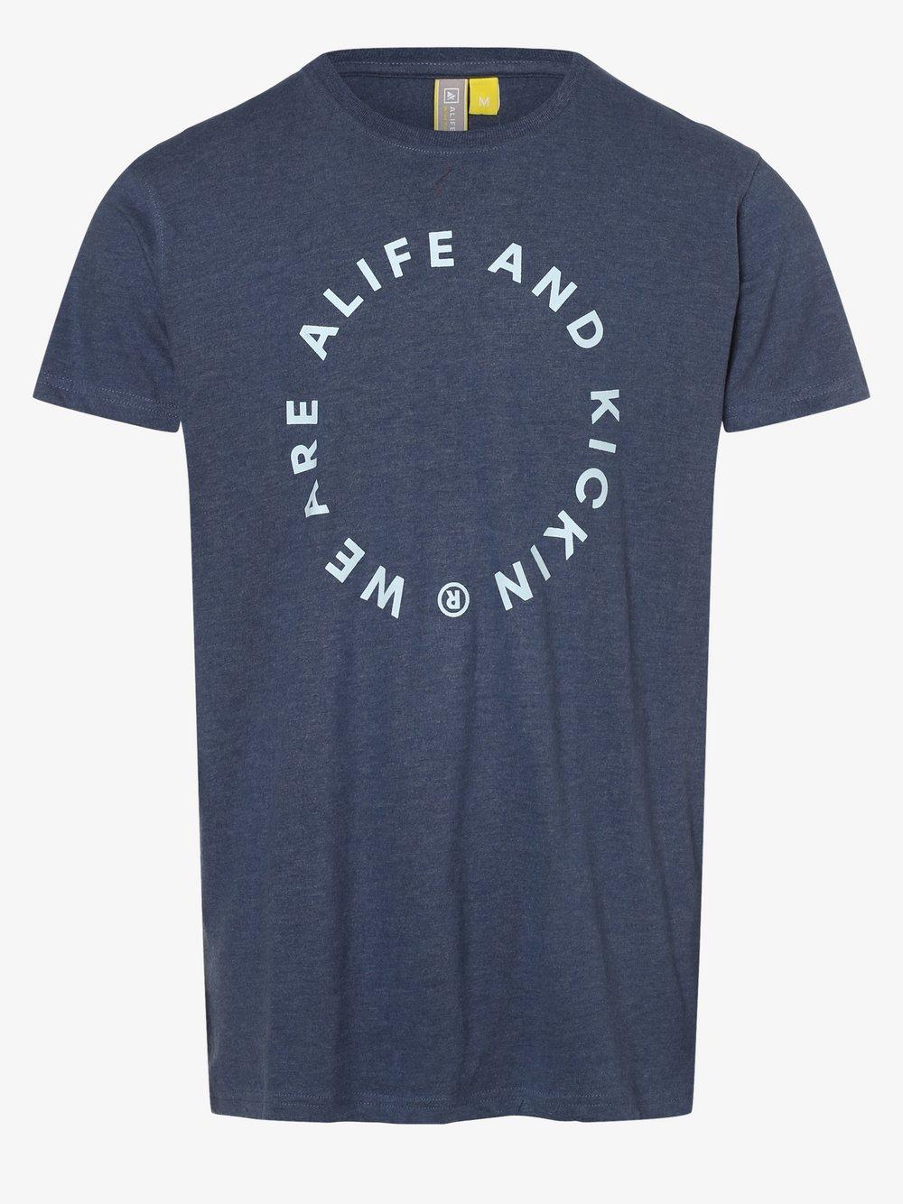 alife and kickin – T-shirt męski – LogoAK, niebieski Van Graaf 495790-0003-09900