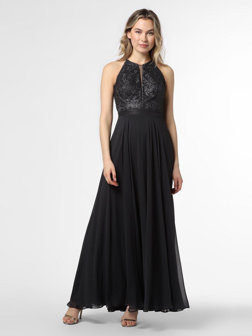 VM - Damska sukienka wieczorowa, szary