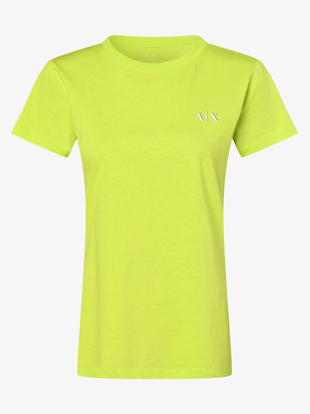 Armani Exchange - T-shirt damski, żółty