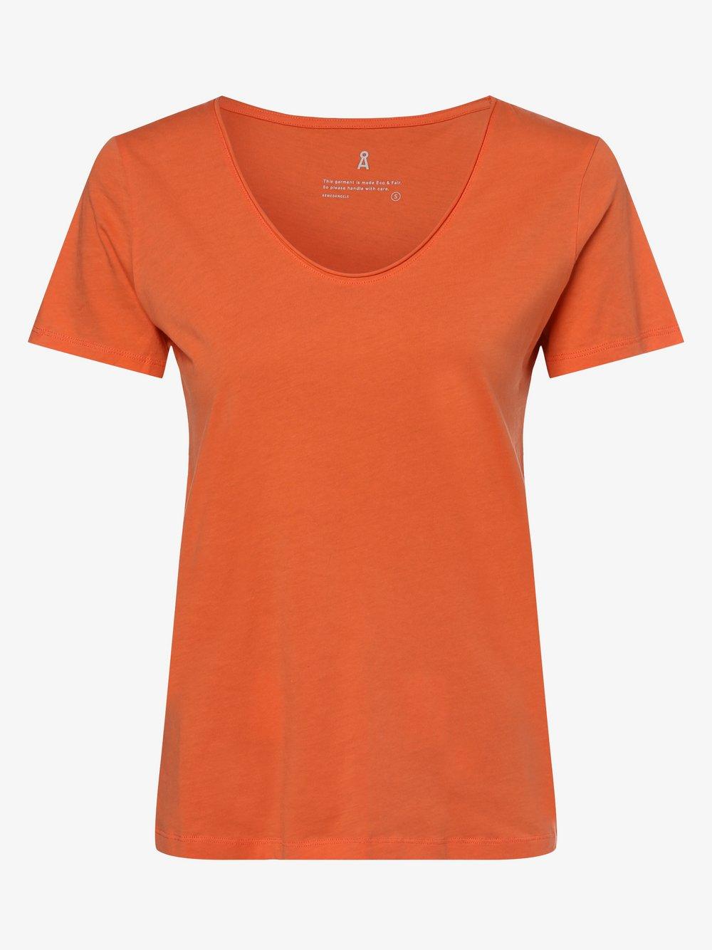 ARMEDANGELS - T-shirt damski – Haadia, pomarańczowy