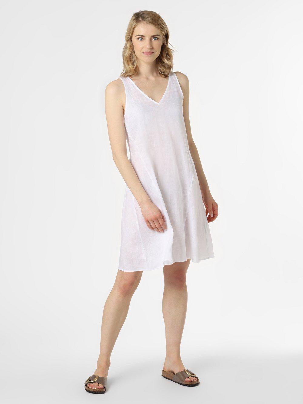 Armani Exchange - Damska sukienka lniana, biały